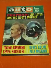 RIVISTA AUTO ITALIANA 1967 N° 51 LIRE 200 CHAPMAN UNA LOTUS 4 RUOTE MOTRICI