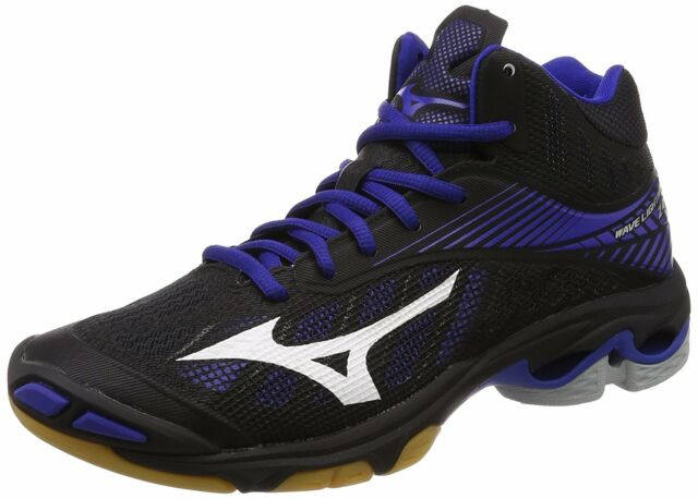98663cfe3914e MIZUNO Volleyball Shoes Wave Lightning Z4 MID Black White Blue US9.5(27.5cm