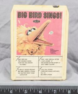 Vintage-Sesame-Street-Big-Bird-Sings-8-Track-Tape-ajd