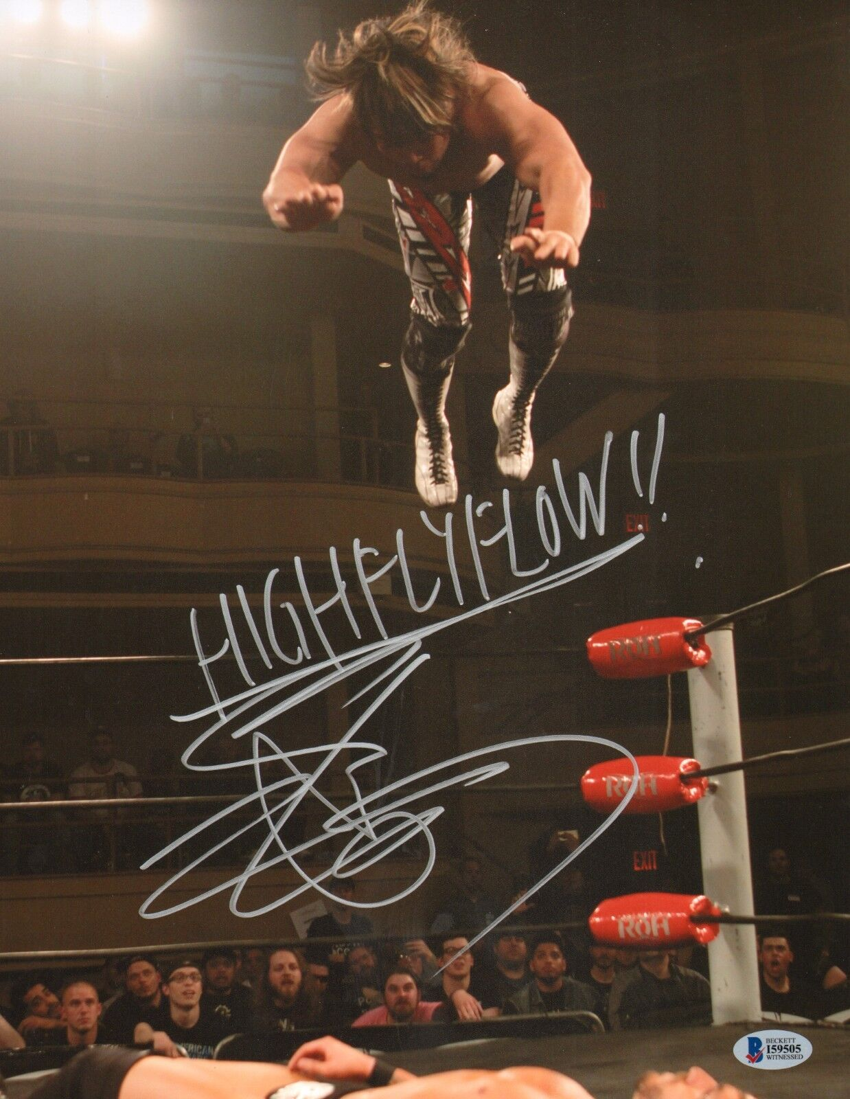 Hiroshi Tanahashi signed 11x14 Photo Bas Bas Bas cert. de autenticidad New Japan Pro Wrestling NJPW HFF 1 965c71