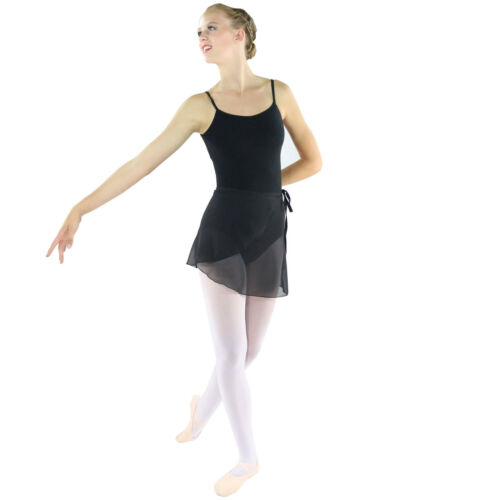 Danzcue Womens Chiffon Ballet Dance Wrap Skirt With Waist Tie