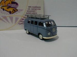 Wiking-0788-10-vw-t1-TYPE-2-Bus-Annee-de-fabrication-1950-in-034-Taubenblau-034-1-87-NEUF