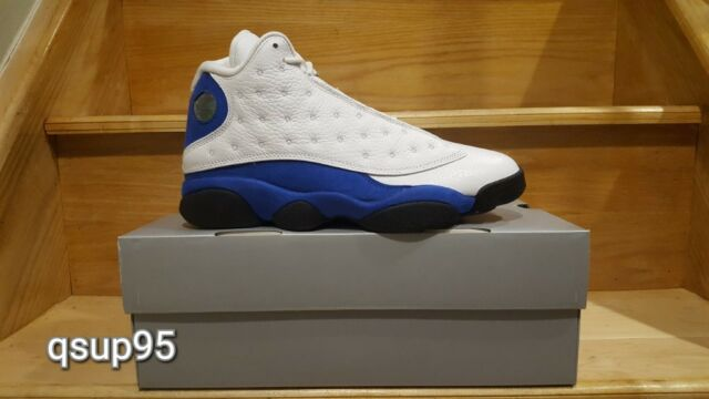 purchase cheap 3a77e 8d3cd Air Jordan 13 Retro HYPER Royal 414571-117 White Blue Black Shoe Mens Size 9