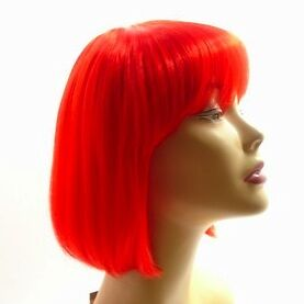 Halloween Fancy Party Wig Bob Style Costume Cosplay Birthday day Hair Hot Pink