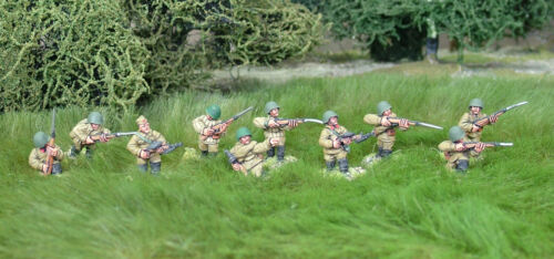 28mm WW2 Russian Soviet  Rifle Squad(10 figures). Bolt Action Chain of Command