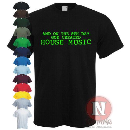 a 8. napi házban House DJ Music CLUB FESZTIVÁL Rave vinyl póló