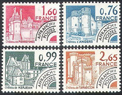 France 1980 Buildings/Forts/Chateau/Architecture/Pre-cancels 4v set (n33078)