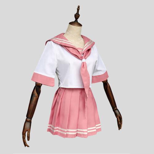 Fate Apocrypha FGO Astolfo Cosplay Costume Pink Sailor Suit JK Uniform Dress