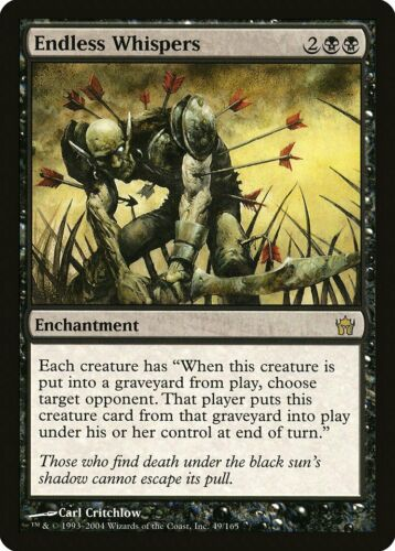 Endless Whispers Fifth Dawn PLD Black Rare MAGIC THE GATHERING CARD ABUGames