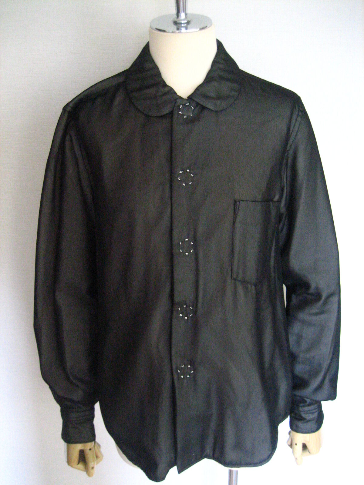 AD2010 Comme Des Garcons Long Sleeve schwarz See-through Blouse Jacket