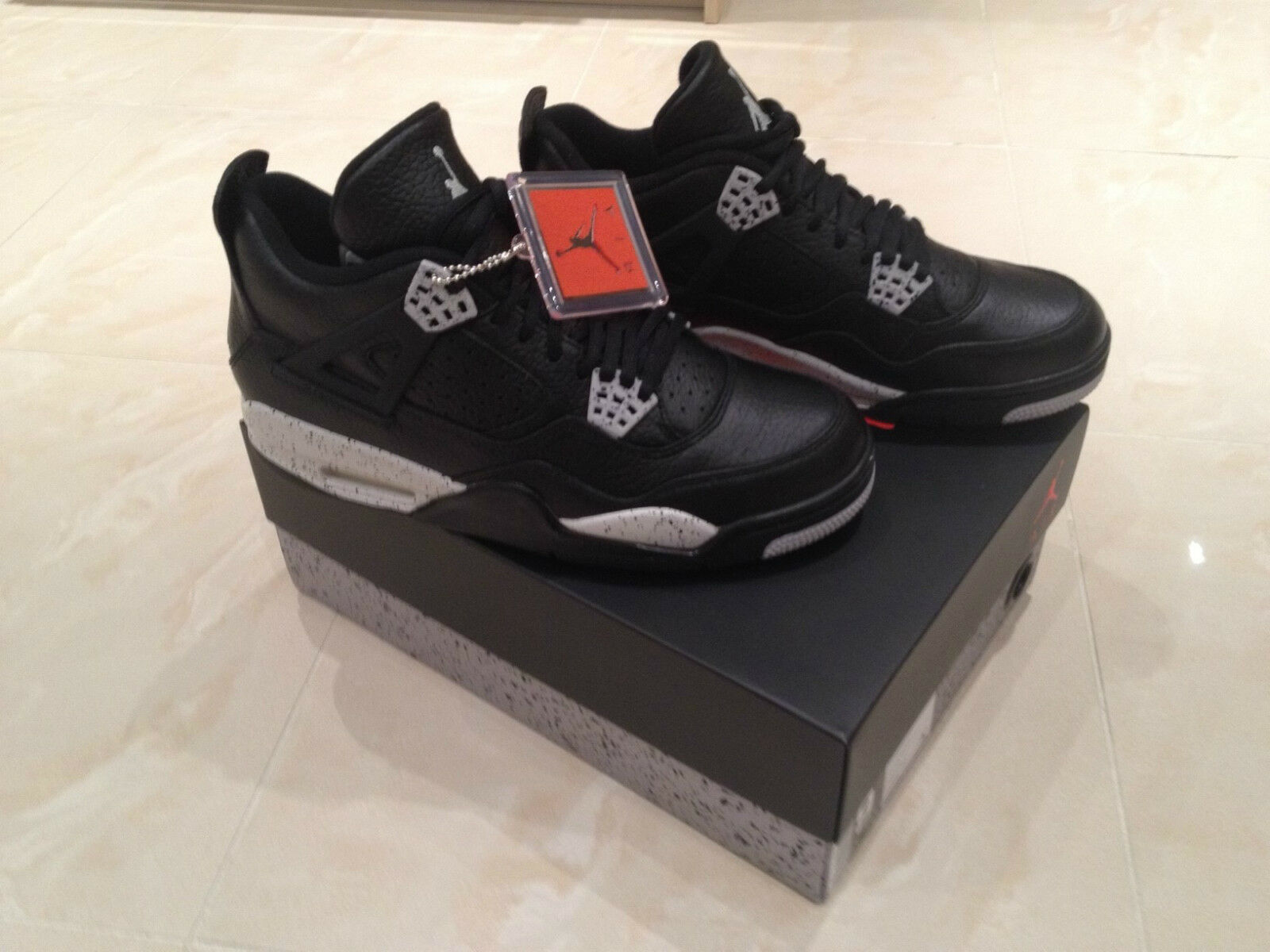 2015 NIKE AIR JORDAN 4 RETRO OG TECH GREY NEU OREO ALL SIZES 5-12.5 NEU GREY 7 7.5 9.5 10 bfa327