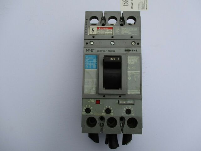 USED SIEMENS FXD63B225 FXD 3P 600V 225A BOLT ON CIRCUIT BREAKER