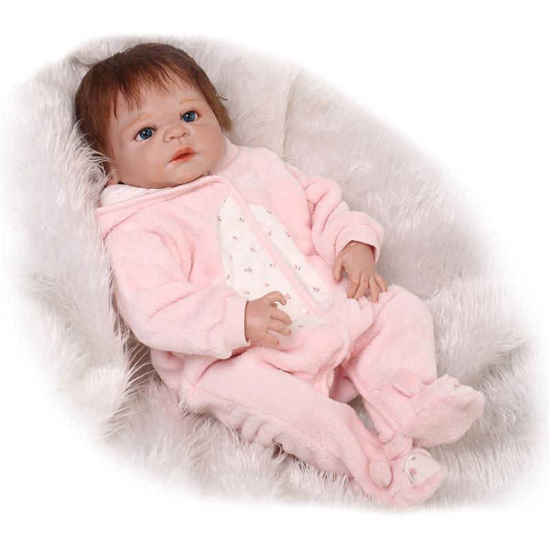 23  realistiche RINATO Baby Girl Doll Full Body vinile in silicone accompagnare Giocattolo Bambini G