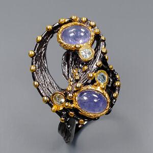 Tanzanite Ring Silver 925 Sterling Women fashion ring Size 7 /R142879