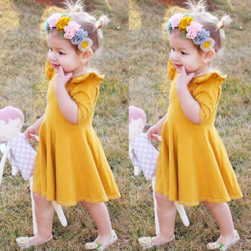 Cute Infant Kids Baby Girls  Print Princess Tutu Pageant Dress Clothes Outfit