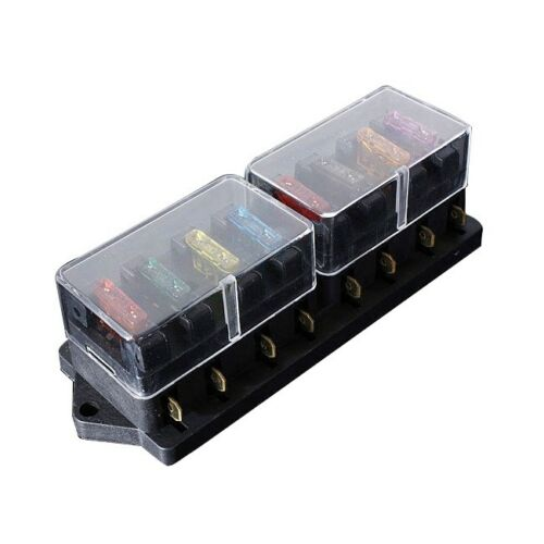 12//24V Universal Car Truck 8 Way Circuit Standard Blade Fuse Box Holder Blo W1A7