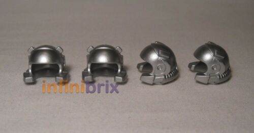 Power Miner Silver Helmets for Minifigures BRAND NEW 4569353 4x Lego Space