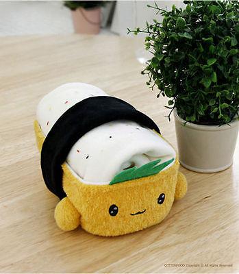 "Cotton Food JAPAN SUSHI PILLOW Cushion Tofu Toy Doll Interior 6""(15cm) Free Ship"