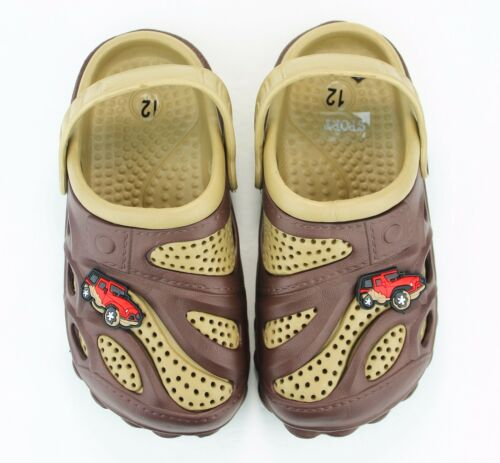 Garden Clogs Shoes For Boys Kids Toddler Slip-On Casual Two-tone Slipper Sandals