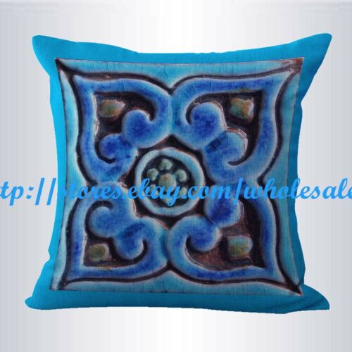 set of 2 pillows for couch turquoise moroccan geometric cushion cover