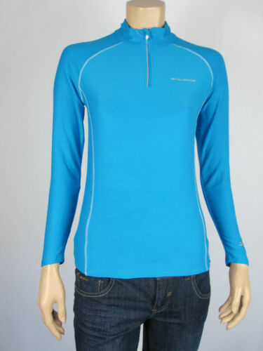 Slazenger Kids Sport 3//4 Zip L//S Runner Training Top Jumper sizes 10 12 14 Blue