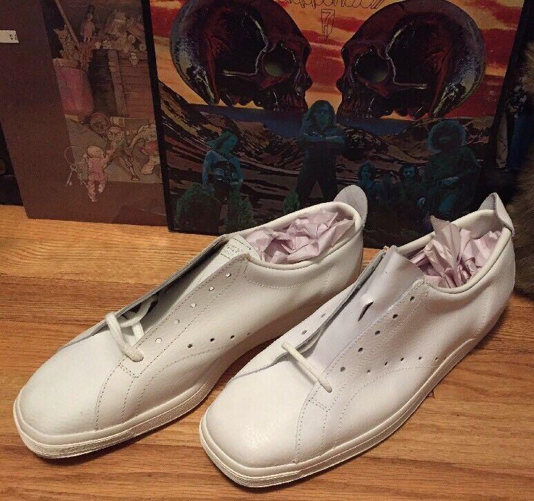 Vintage 60s Era PATRICK Cushion Insole White Leather Shoes. Size 46 EU Rare.