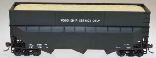 Bowser HO 57013 70 Ton Wood Chip Hopper Car Dim Data Black Kit Form HH