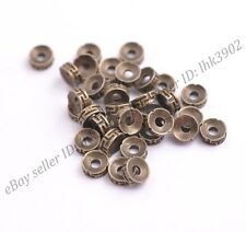 20Pcs Tibetan Silver Bronze Charms Spacer Beads Jewelry Findings 7MM D3116