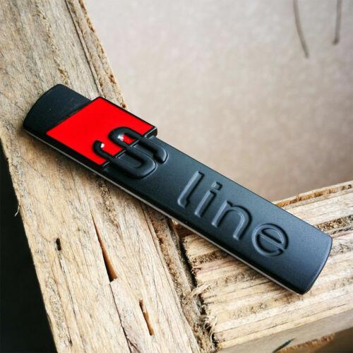 Audi S Line Badge Original OEM Emblems Chrome Black Matt Badges Decal All Models