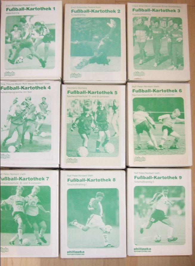 Fussball Kartothek 1+2+3+4+5+6+7+8+9  KOMPLETT  Herren Jugend Kinder Philippka    Großartig