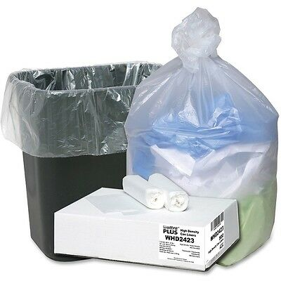 "Agressief Webster Can Liners 7-10 Gallon 24""x24"" 500/ct Translucent Whd2423"