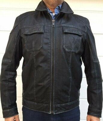 Details zu Strellson Lederjacke für Herren in schwarz, Gr. 54