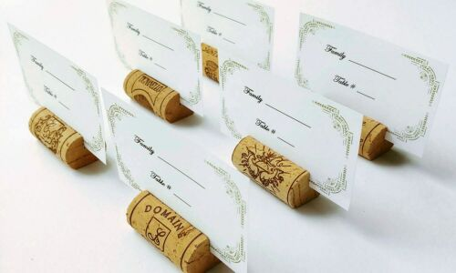 Wine Cork Place Card Holders used for Weddings Baptism Party Table Decor