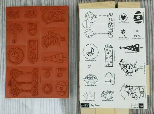 Stampin Up TAG TIME 14pc Set Easter Christmas Holidays Halloween Birthday Flower