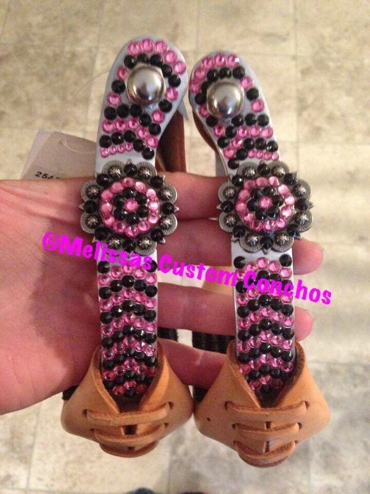 Western Bling Offset Stirrups With Conchos