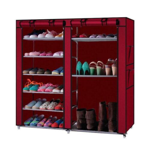Shoe Rack for 36 Pair Wall Bench Shelf Closet Organizer Storage Box 6 Layer