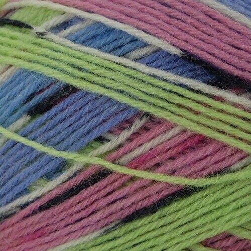 motif King Cole Zig Zag 4ply Sock Yarn 100g diverses nuances nouveau style 75/% laine