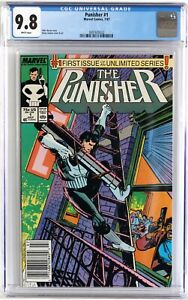 NEWSSTAND-VARIANT-CGC-9-8-Punisher-1-White-Pages-unlimited-1997-NEW-CASE