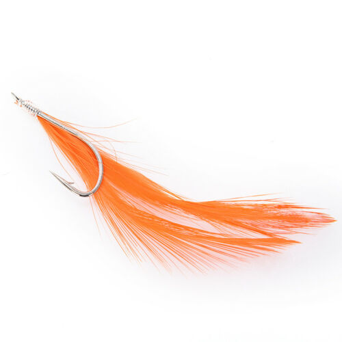 Sabiki Saltwater Fishing Lure Bait Rig Hook Tackle Luminous Beads Feathers YEXJ