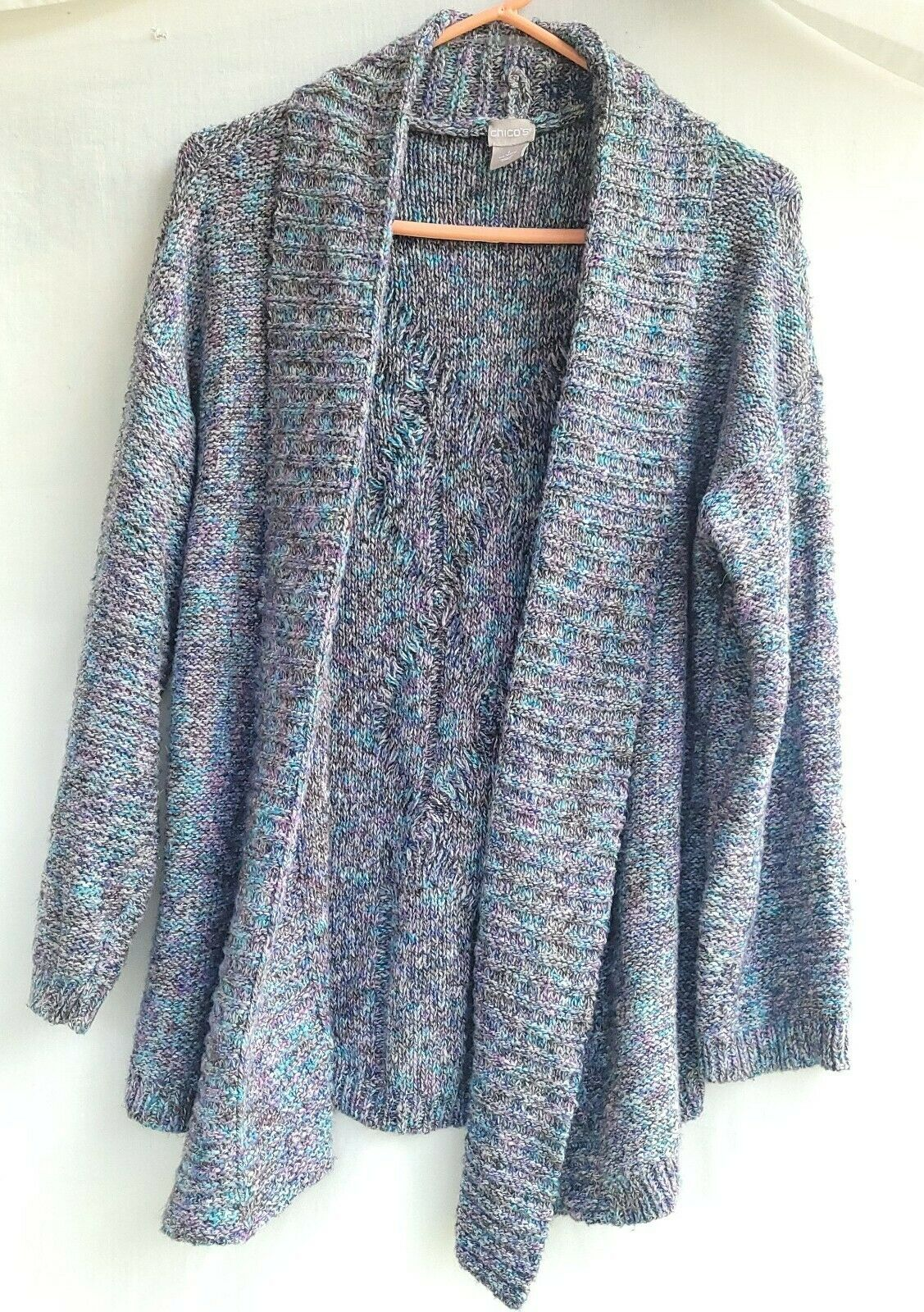 Chico's Chunky Knit Textured Sweater Open Front S… - image 2