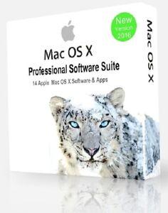 Mac-Os-X-enorme-Software-Profesional-De-Coleccion-14-programas-Apple-Imac-Macbook