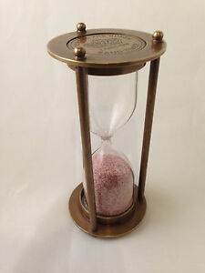 4-inch-Sand-Timer-Hourglass-Solid-Brass-Nautical-Marine-Antique-Finish