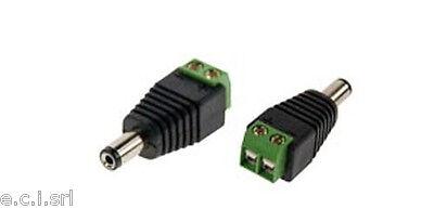 Soleggiato 38.2003103m Spina Connettore Alimentazione 2,10x5,50mm Con Morsetti ( Tvcc Ecc ) Morbido E Antislipore