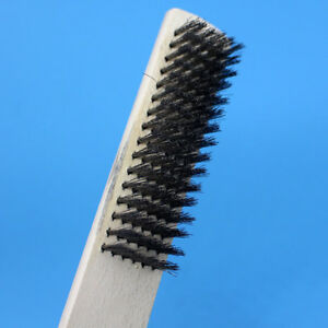 Details About 200mm Wood Handle Screw Thread Brush Stainless Steel Wire Cleaning Brush Ne8z