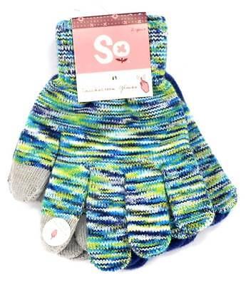 Winter So Mercy Kids Gloves Girls 2 Pair Combo Touchscreen Glove 1 Size NEW 3655