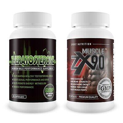 Testosterone Booster & ZX90 Muscle Gain - Premium Pre-Workout Supplement eBay