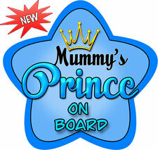 Personalised Baby On Board Car Sign Blue Prince Bright!