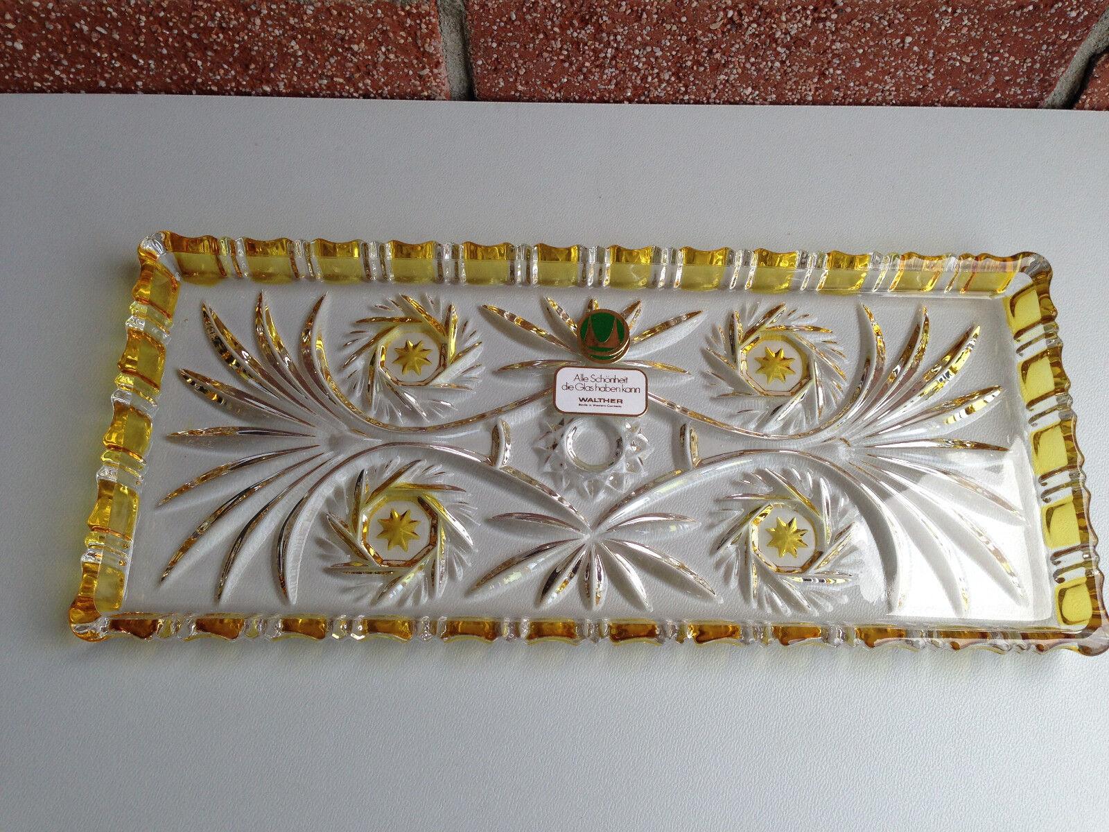 Walther Glas Komet Stollenplatte Stollenplatte Stollenplatte Kuchenteller Tortenplatte | Verwendet in der Haltbarkeit  cf1a42