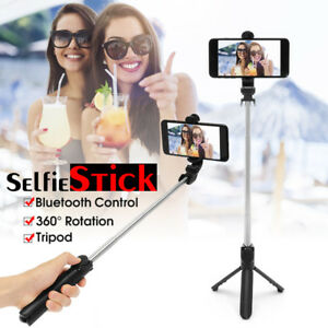 Extendable-Selfie-Stick-Tripod-Bluetooth-Wireless-Remote-Shutter-For-iOS-Android