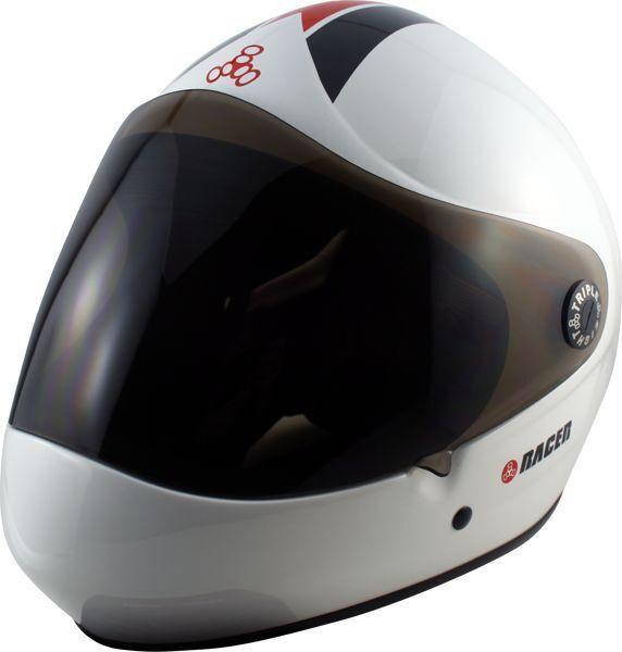 Triple 8 Racer Downhill Helmet SMALL MEDIUM White Cpsc Atsm